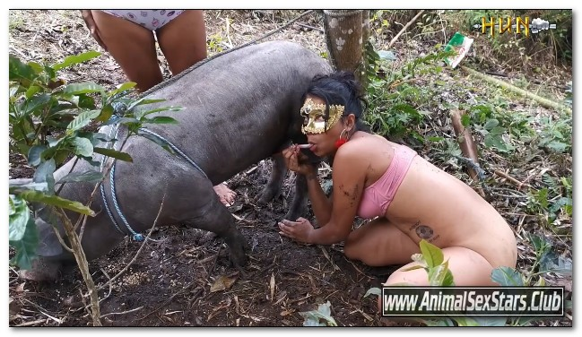 33 - Wild Boar Fucks A Girl - Sex With Pigs